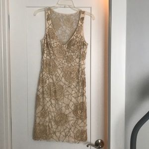 Beaded beige dress